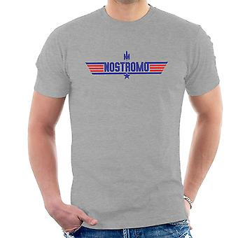 Top Gun Logo Nostromo Aliens Men's T-Shirt