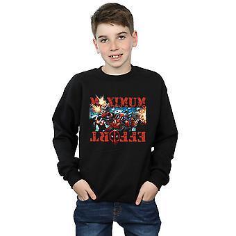Marvel Boys Deadpool Maximum Effort Sweatshirt