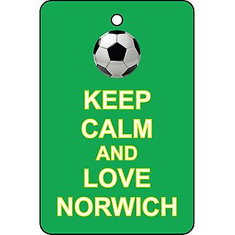 Keep Calm And Love Norwich Car Air Freshener
