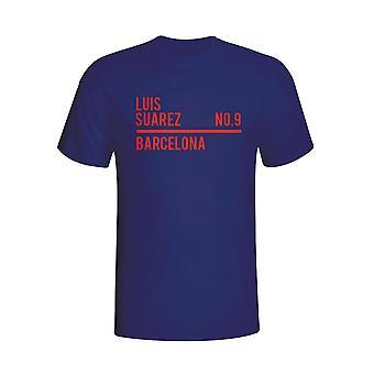 Luis Suarez Barcelona Kader T-shirt (Navy) - Kids