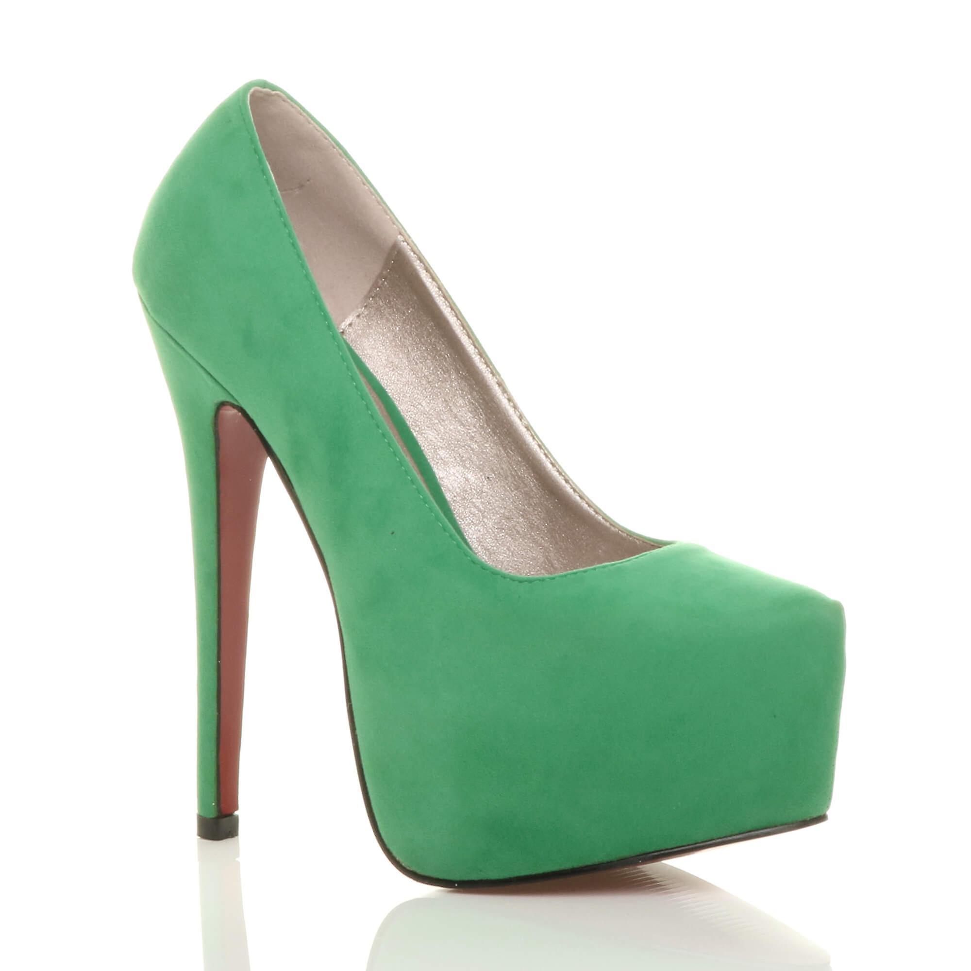 Ajvani damskie wysokie szpilki ukryte pompy buty platformy strony sądu 4bGAC
