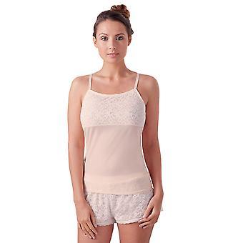 Guy de France 67111-181-113 Women's Skin Solid Colour Lace Pyjama Short