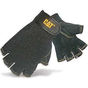 CAT arbetskläder Mens arbetskläder gris hud tunga fingerlösa handskar