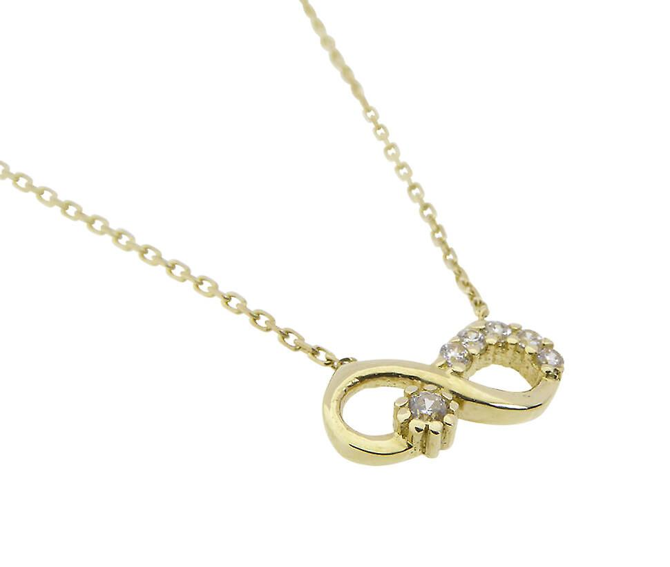 Gold chain and infinity cubic zirconia pendant
