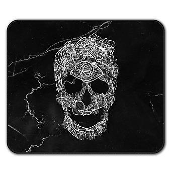 Kunst Skull Flower Anti-Rutsch Mauspad Pad 24 x 20 cm | Wellcoda