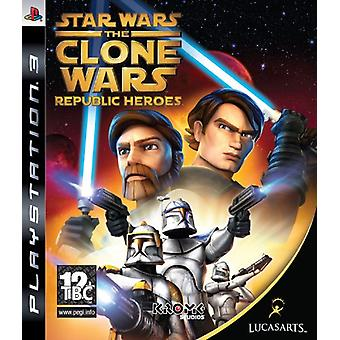 Star Wars klon Wars-Republic Heroes (PS3)-ny