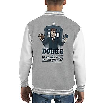 Doctor Who Books The Best Weapon In The World Kid's Varsity Jacket