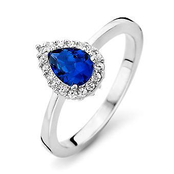 Orphelia Silver 925 Ring Drop saffier kleur zirkonium ZR-7226/SA
