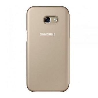 Samsung EF-FA520PFEG neon flip cover case gold for Galaxy A5 2017