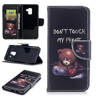 Tasche Wallet Motiv 25 für Samsung Galaxy A8 2018 A530F Schutz Hülle Case Cover Etui Neu