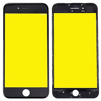 Bemutatás pohár részére Alma iPhone 7 plusz 5,5 bemutatás pohár LCD + test + OCA ragasztóanyag kímél elválaszt fekete
