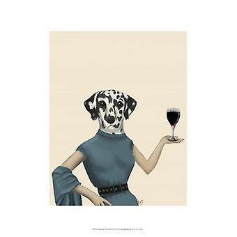Dalmatiske vin snobb Poster trykk av Fab Funky (13 x 19)