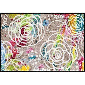 Salong lion blomstra matta mats tvättbara smuts matta