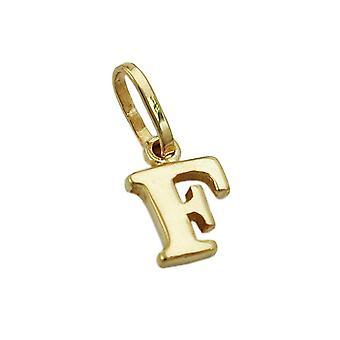 Lettera 375 seguaci Ciondoli oro, lettera F, oro 9 KT