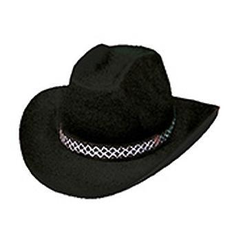 Cowboyhut Dallas schwarz Hut Accessoires Karneval Halloween