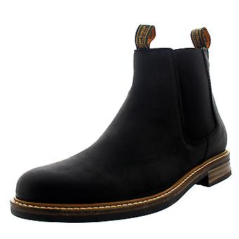 Mens Barbour Farsley Smart Leather Black Work Office Ankle Chelsea Boots