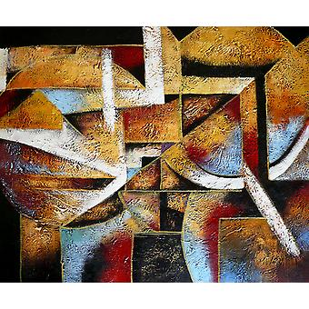 Abstract, oil painting on canvas, 50x60 cm