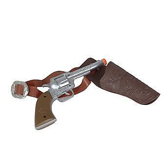 Cowboy Holster/Gun W/Belt (1 Gun)