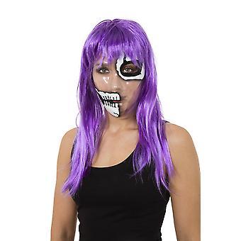 Transparant masker skelet 1/2 gezicht Print