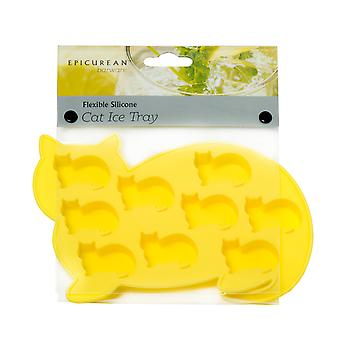 Epicurean Yellow Cat Silicone Ice Cube Tray