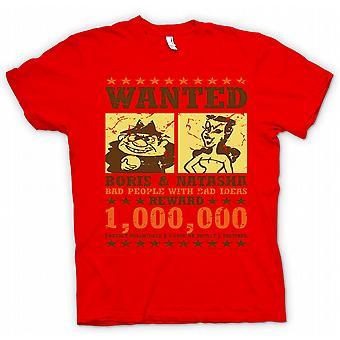 Mens T-shirt - Wanted - Boris & Natasha - Funny