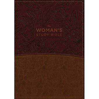 La NKJV, étude de la Bible de la femme, entièrement révisée, Imitation cuir marron/Bordeaux, polychrome, indexé: recevoir la vérité de Dieu pour l'équilibre, l'espérance et Tra