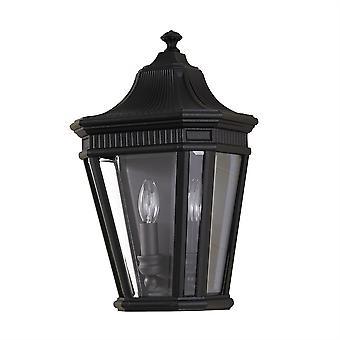 Cotswold Lane Outdoor Half Wall Lantern Black  - Elstead Lighting
