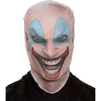 Killer Clown huid masker voor Halloween