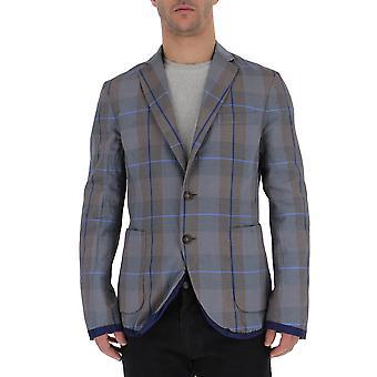 The Gigi Bowiek604400 Men's Grey Cotton Blazer