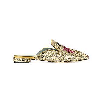 Chiara Ferragni Cf1842 Femmes-apos;s Gold Glitter Slippers