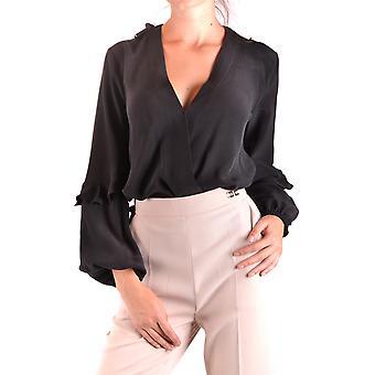Elisabetta Franchi Ezbc050121 Naiset&s Musta silkkipaita