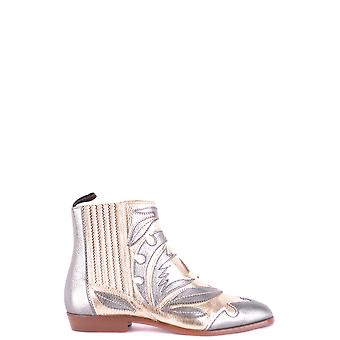 Santoni P18wtdb56977ha1cs Women's Multicolor Leather Ankle Boots