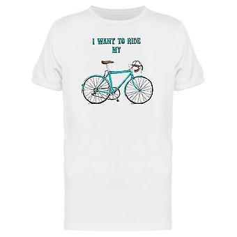 Je veux monter mon vélo T-shirt hommes les de - Image de Shutterstock