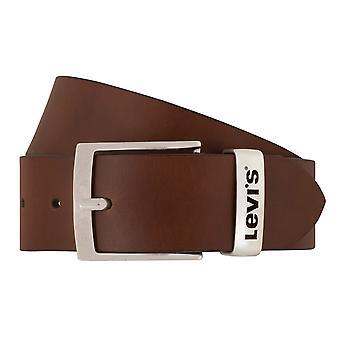 Cinturón de los pantalones vaqueros de Levi BB´s cinturones hombre cinturones cuero marrón 7838