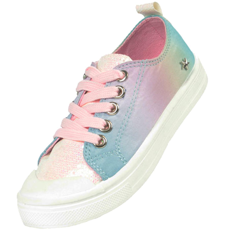 Girls rainbow pastel colour sparkly