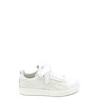 Diadora Ezbc116045 Mujer's Zapatillas de Cuero Blanco