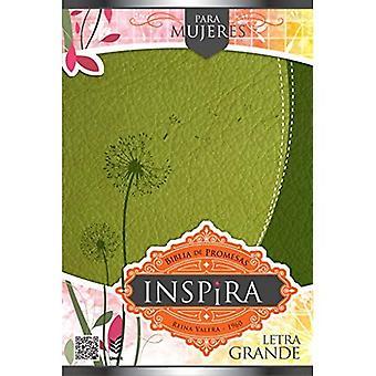Biblia de Promesas Inspira/Letra Grande/Piel Especial Verde/Con Indice [Spanish]