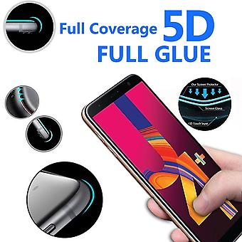 For Samsung Galaxy J4 Plus - 5D Curve Edge Full Coverage 9H Hardness Tempered Glass (1 Pack) by i-Tronixs