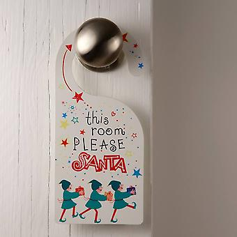 Санта остановиться здесь двери вешалка