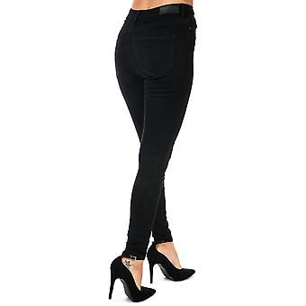 Womens Vero Moda High Waist Skinny Fit Jeans In Black