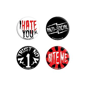 Grindstore Anti-Social Badge Pack