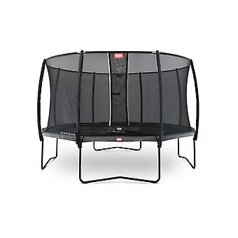BERG Champion Regular 430 Levels 14ft Trampoline+ Safety Net Deluxe Grey