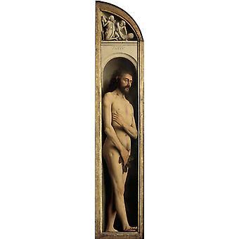 Adam and Eva,Jan Van Eyck,80x17cm