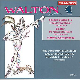 W. Walton - Walton: Fa Ade Suites Nos. 1-3; Popular Birthday; Siesta; Sinfonia Concertante; Portsmourth Point [CD] USA import