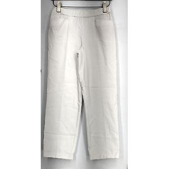 Susan Graver Ultra Stretch Pull-On Casual Pants White A288148
