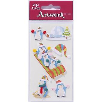 Penguins julkort utsmyckningar av Artoz