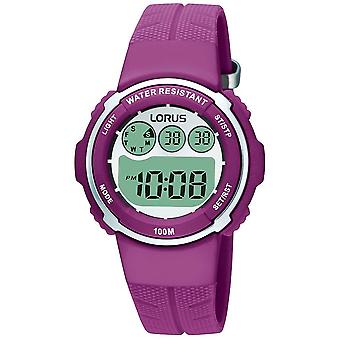 Lorus regarde Quartz Digital Child Watch avec bracelet en caoutchouc R2379DX9