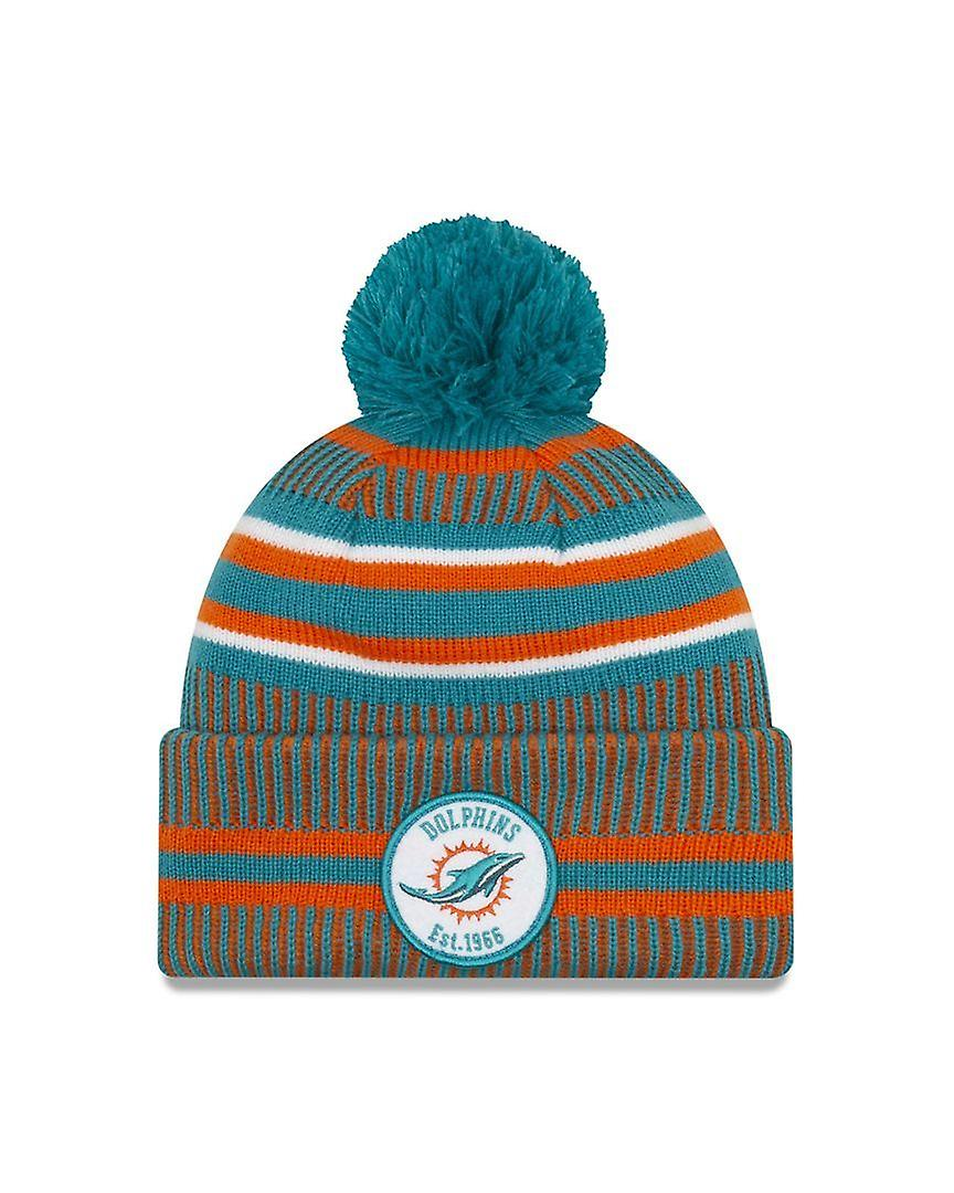 New Era On Field Sport Knit Hm Beanie ~ Miami Dolphins