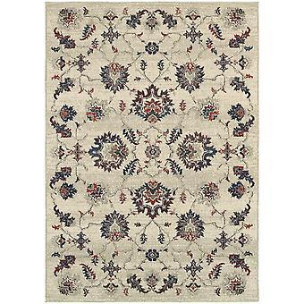 Highlands 6684b beige/multi indoor area rug rectangle 7'10