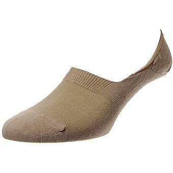 Pantherella Mahon Plain Merino wol onzichtbare sokken-Lichtkaki